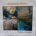 """Visite de l'exposition à Mandrin : """"Expression directe"""" de Tamara IVANDA"""